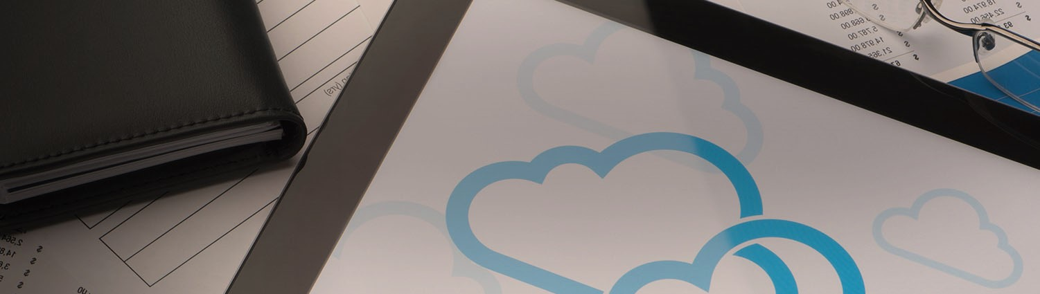 cloud symbol on notepad