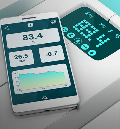 smartphone-and-weighing-scale